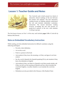 Lesson 1: Teacher Guide and Notes