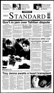Gov`t in jam` ovelr` Tahltan dispute