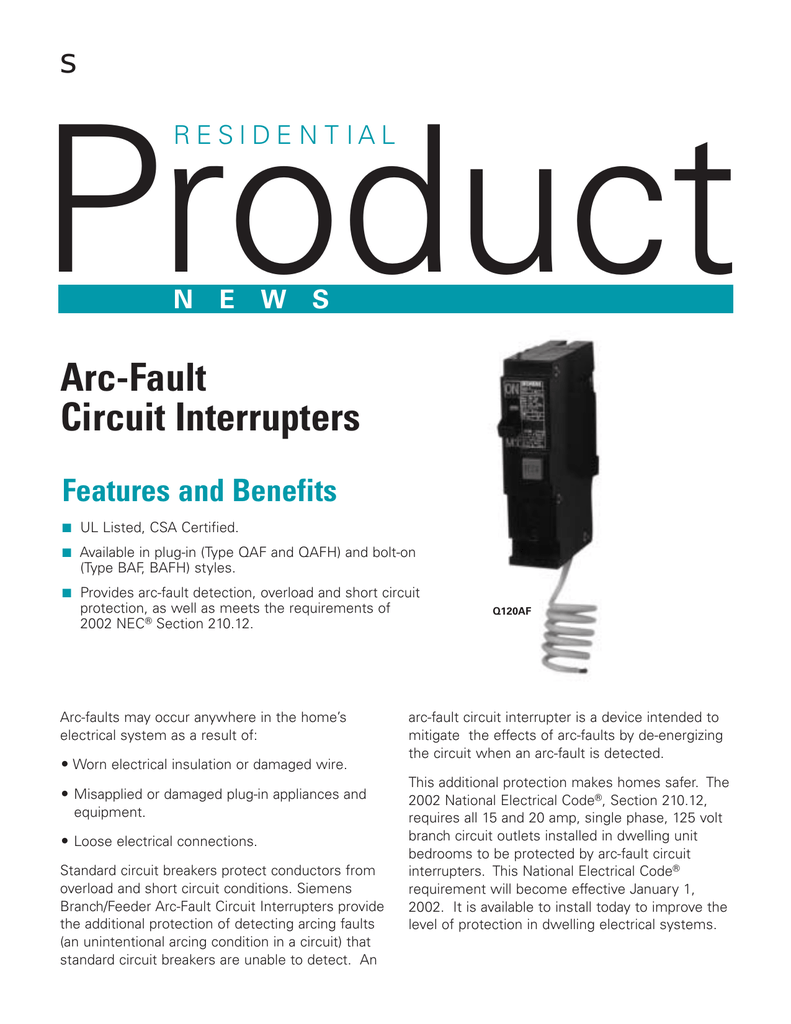 Arc Fault Circuit Interrupters Breaker Wiring Diagram