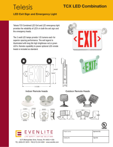 LED Exit Sign and Emergency Light