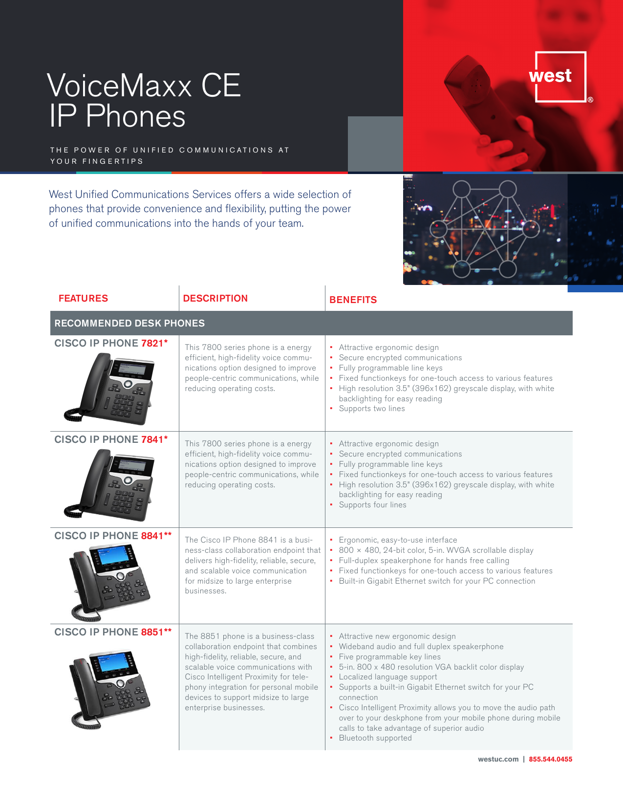 VoiceMaxx CE IP Phones - West Unified Communications Services