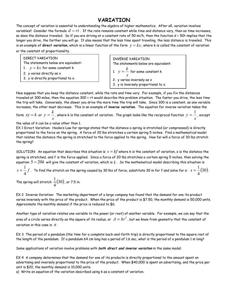 VARIATION - russellmath net