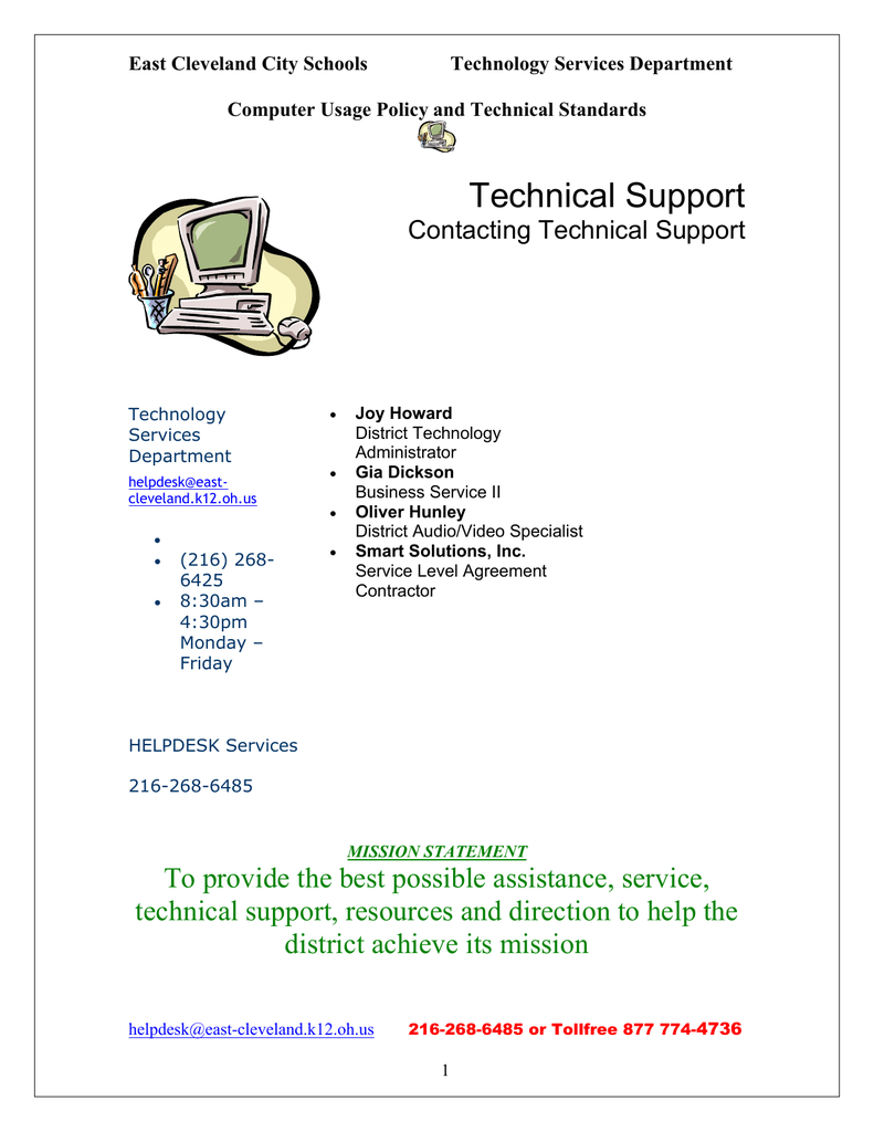 Technical Support - East Cleveland City Schools