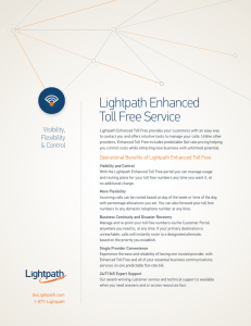 Collateral-Enhanced Toll Free Service