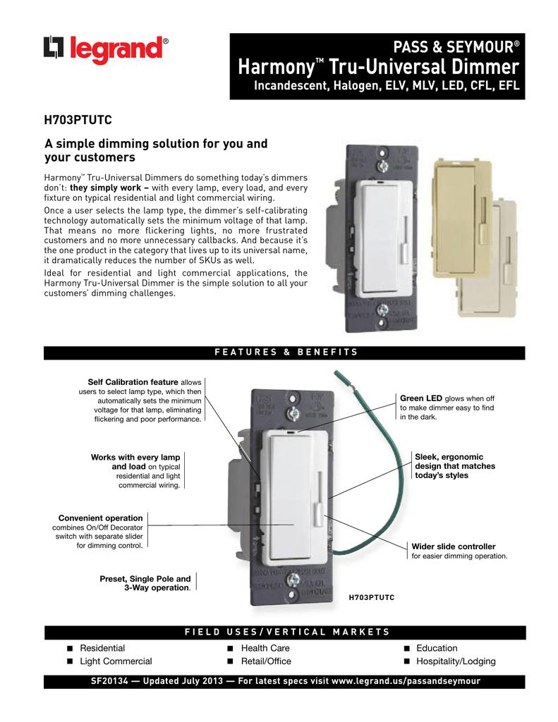 Harmony Dimmer Wiring Diagram Reinvent Your 3 Way Single Pole For A As Tru Universal Shaffer Rh Studylib Net Lutron Maestro