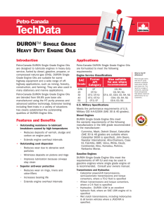Tech Data - DURON Single Grade Heavy Duty - Petro