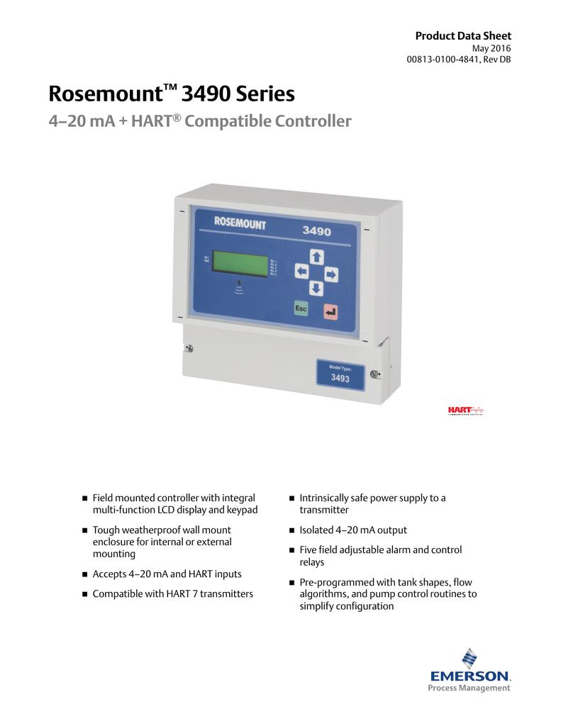 Rosemount 3490 Series 420 Ma Hart Compatible Controller Analog Temperature 8211 Relay