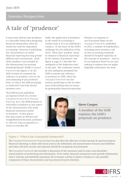 Investor perspective: A tale of `prudence`