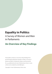 Equality in Politics - Inter