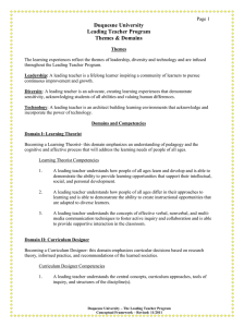 Themes and Domains of the Leading Teacher Program