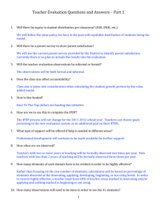 Teacher Evaluation Questions and Answers – Part 1