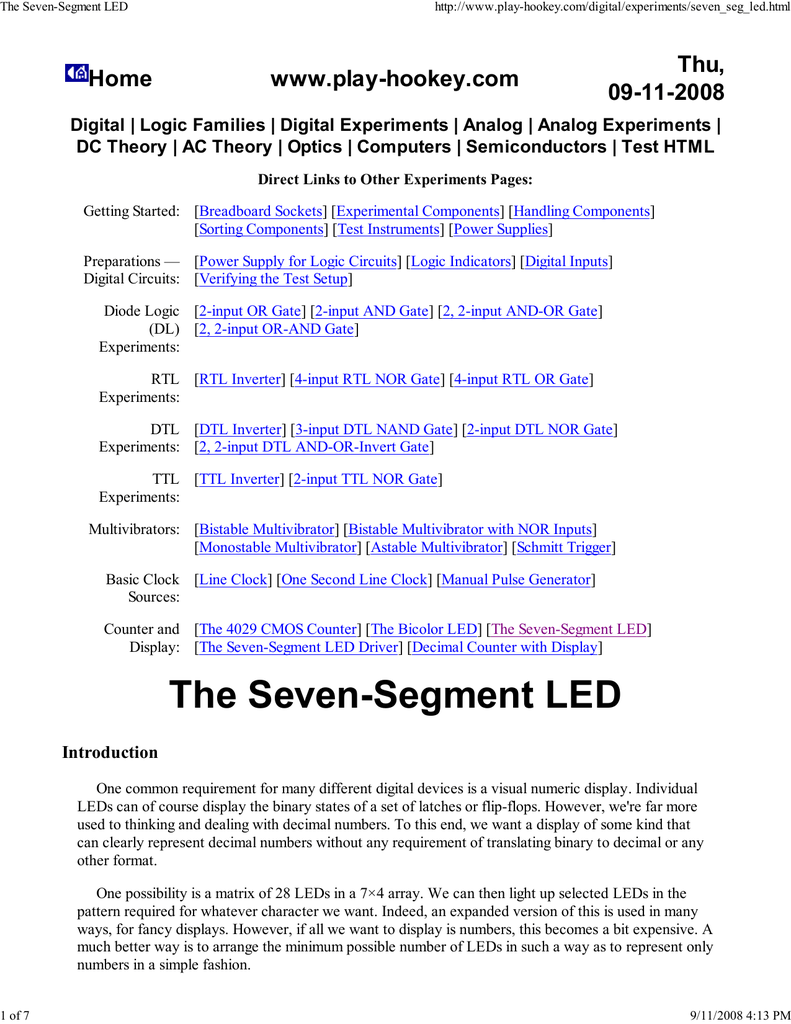The Seven Segment Led Computer Graphics Home 4digit 7segment Display Driver Circuit We Will Build Using A