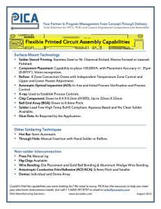 Flexible Printed Circuit Assembly Capabilities