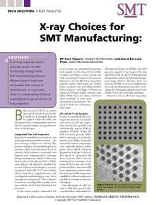 X-ray Choices for sMT Manufacturing