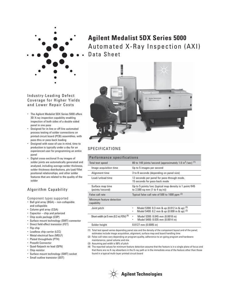 agilent medalist 5dx series 5000 automated x rh studylib net