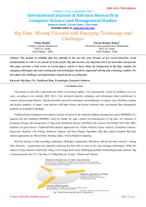 Big Data: Moving Forward with Emerging Technology