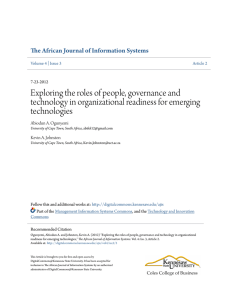 Exploring the roles of people, governance and technology in