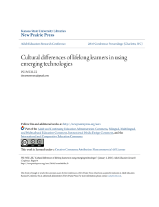 Cultural differences of lifelong learners in using emerging