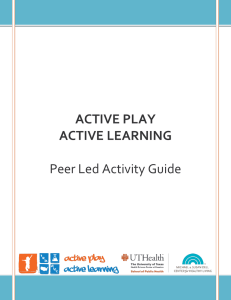Active Play-Active Learning - University of Texas School of Public