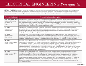 ELECTRICAL ENGINEERING Prerequisites