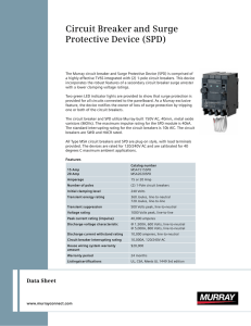 Circuit Breaker and Surge Protective Device (SPD)