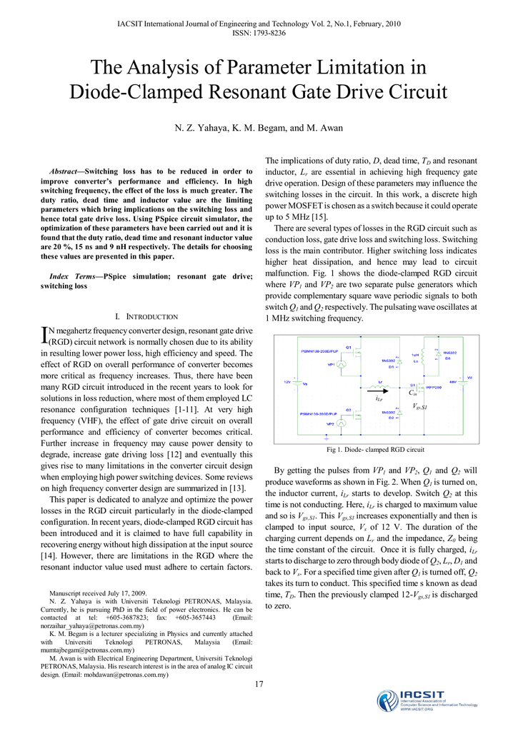The Analysis of Parameter Limitation in Diode-Clamped