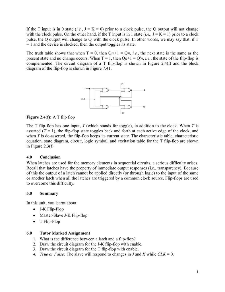 Csc 324d Logic Diagram Of T Flip Flop