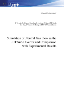 Simulation of Neutral Gas Flow in the JET Sub