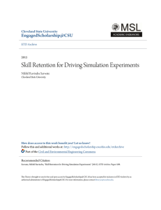 Skill Retention for Driving Simulation Experiments