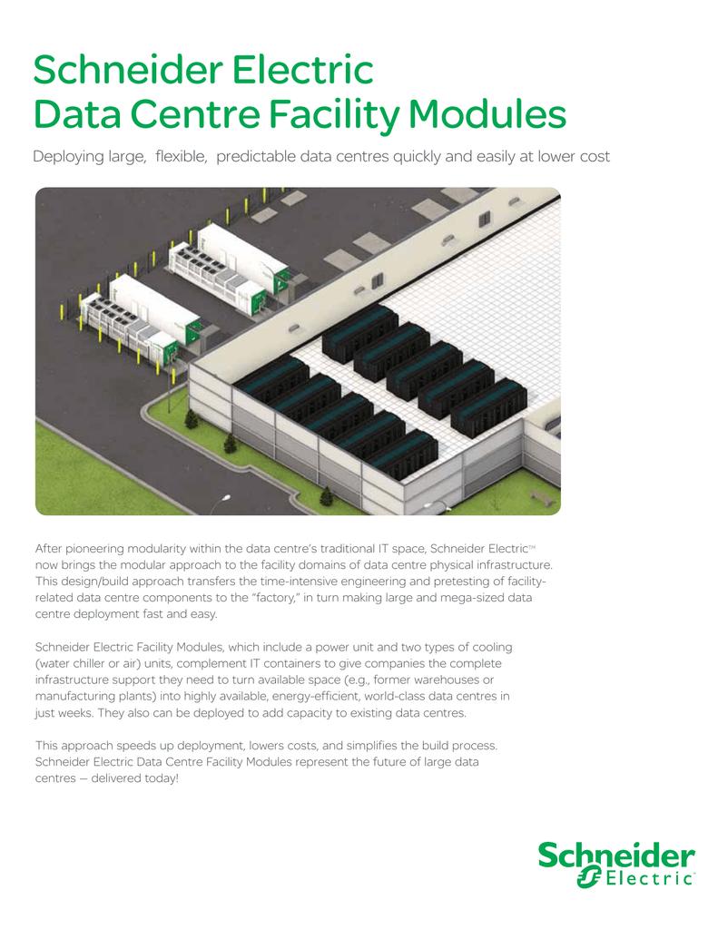 Schneider Electric Data Centre Facility Modules
