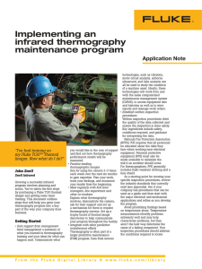 Implementing an infrared thermography maintenance program