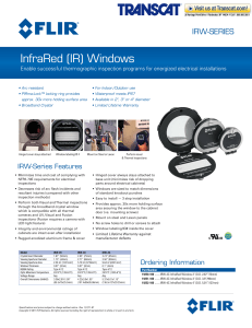 FLIR Systems - InfraRed (IR) Windows. Thermographic inspection