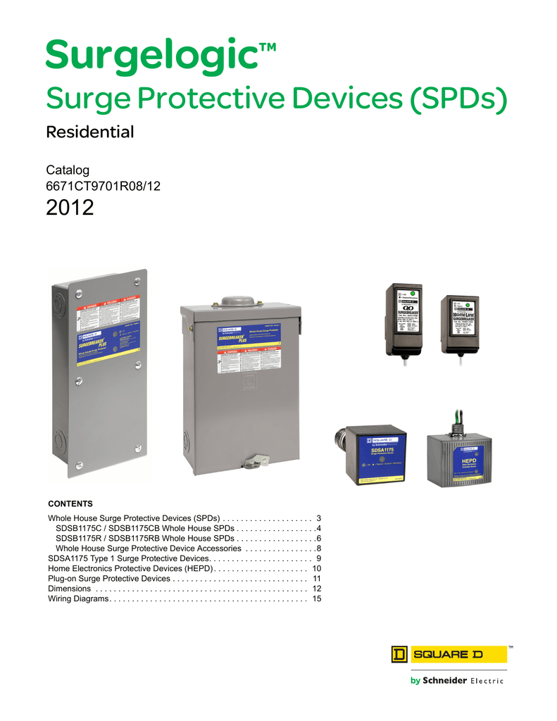 Surgelogic Surge Protective Devices Residential