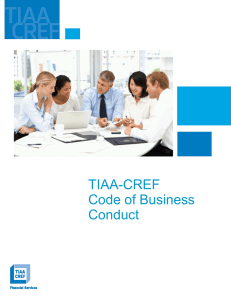 TIAA-CREF Code of Business Conduct