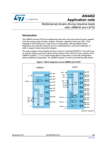 Multichannel drivers driving inductive loads with L99MC6 and L9733