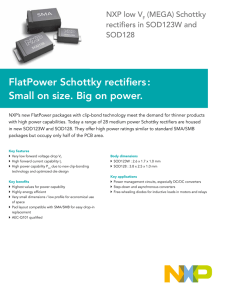 FlatPower Schottky rectifiers : Small on size. Big on power.