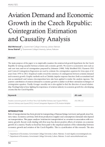 Aviation Demand and Economic Growth in the Czech Republic