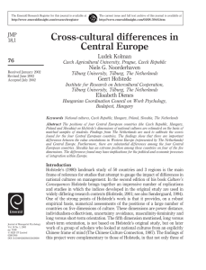 Cross-cultural differences in Central Europe