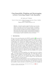 Class-Separability Weighting and Bootstrapping in Error Correcting