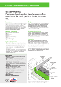 Silcor® 900HA Fast-cure, hand-applied liquid waterproofing