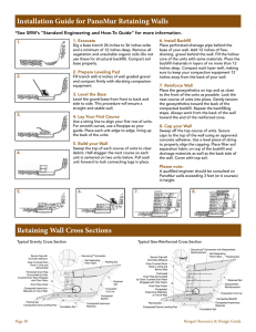 Retaining Wall Cross Sections Installation Guide