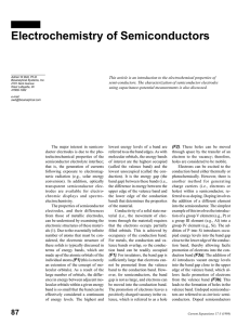 Electrochemistry of Semiconductors