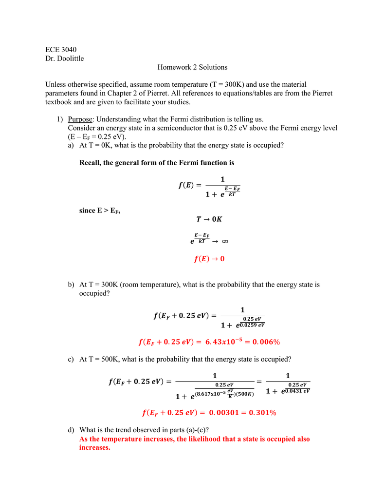 Ume Room Temperature T 300k And Use The Material Parameters Found In Chapter 2 Of Pierret All References To Equations Tables Are