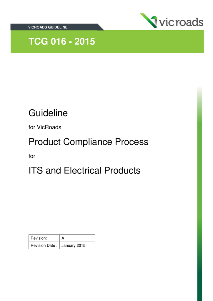 TCG 016 - 2015 Guideline Product Compliance Process ITS and