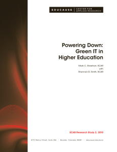 Powering Down: Green IT in Higher Education