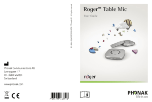 User Guide Roger Table Mic