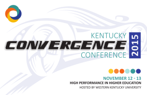 Printed Program for Kentucky Convergence 2015