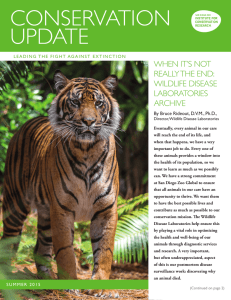 conservation update - San Diego Zoo Institute for Conservation