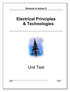 ELECTRICAL PRINCIPLES AND TECHNOLOGIES