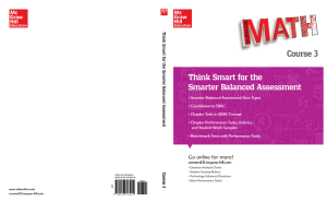 Think Smart for the Smarter Balanced Assessment Course 3